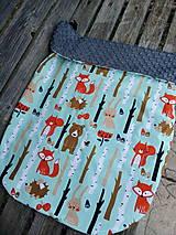Textil - Nepadavá deka zvieratká v lese - 11678992_