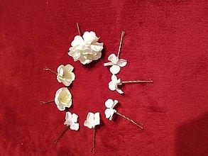 Ozdoby do vlasov - Set na prvé sväté prijímanie alebo Pre Nevestu 8ks - 11678997_