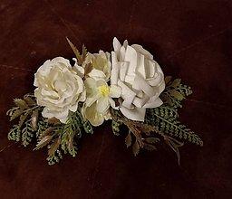 Ozdoby do vlasov - Svadobný hrebienok Krásna v bielom šate - 11680202_