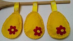 Dekorácie - Žlté veľkonočné vajíčka - 11679820_