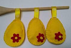 Dekorácie - Žlté veľkonočné vajíčka - 11679821_