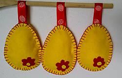 Dekorácie - Žlto-červené velkonočné vajíčka - 11679858_