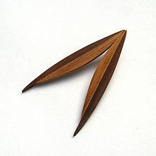 Náušnice - Drevené náušnice napichovacie - jelša + topoľová kôra - 11679259_