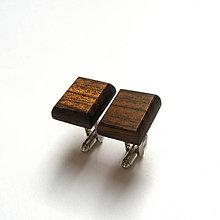 Šperky - Drevené manžetové gombíky - ovangkol štvoruholníky - 11679519_