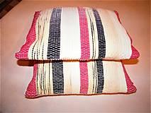 Úžitkový textil - Tkané obliečky na vankúše banánovo-čierno-červené - 11680529_