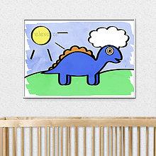 Detské doplnky - Kreslený dinosaurus - stegosaurus - 11680555_