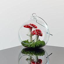 Dekorácie - Plstené hríby - Muchotrávka červená - 11681052_