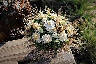 Dekorácie - Aranžmán zo sušených kvetov - 11682202_