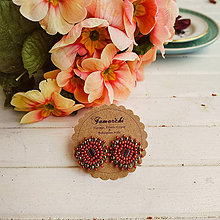 Náušnice - Gingerbread baldachins - vyšívané puzety - 11682437_