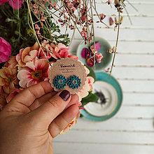 Náušnice - Flower baldachins - vyšívané puzety - 11682452_