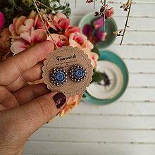Náušnice - Flower n.2 baldachins - vyšívané puzety - 11682456_