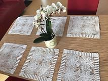 Úžitkový textil - Exkluzívna sada háčkovaného prestierania - 11680726_