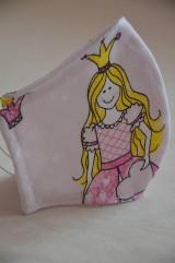 Rúška - Detské rúško na tvár (princezná, každý vzor je originál) - 11681950_