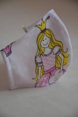 Rúška - Detské rúško na tvár (princezná, každý vzor je originál) - 11681955_