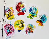 Grafika - Cyklus krajín jedného stromu (set 7 ks ilustrácií) - 11682951_