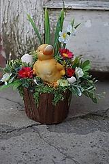 Dekorácie - Veľkonočná dekorácia - Káčatko - 11682831_