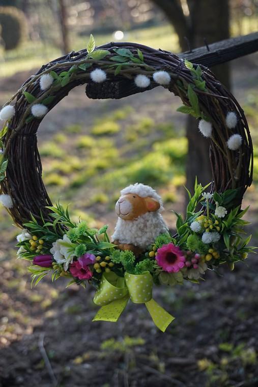 Veľkonočný venček - Ovečka
