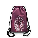 Batohy - Softshellový ruksak BURGUNDY LEAF - 11681133_