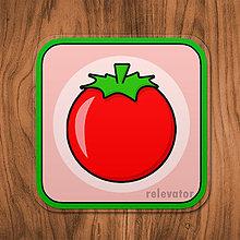 Pomôcky - Podšálka zelenina (paradajka) - 11680816_