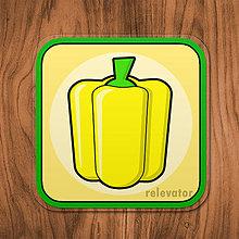 Pomôcky - Podšálka zelenina (paprika) - 11680817_