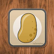 Pomôcky - Podšálka zelenina (zemiak) - 11680819_