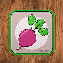 Pomôcky - Podšálka zelenina (repa) - 11680820_