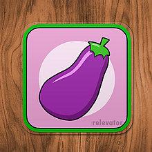 Pomôcky - Podšálka zelenina (baklažán) - 11680827_