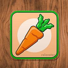 Pomôcky - Podšálka zelenina (mrkva) - 11680829_