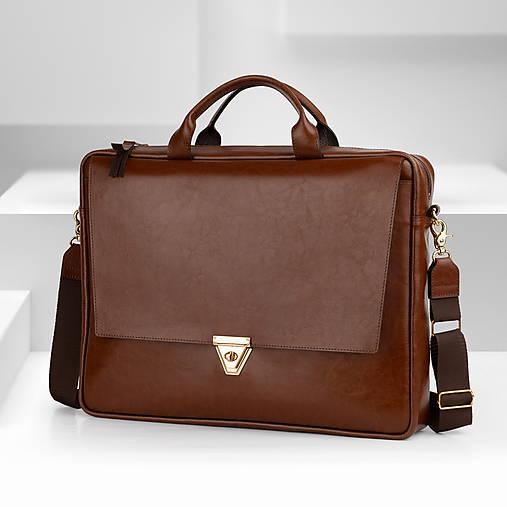 Kožená taška na notebook BIZNIS