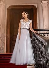 - Dvojdielne svadobné šaty na gumičky so šatami na ramienka rôzne farby SKLADOM ZĽAVA - 11684519_