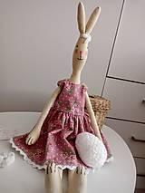 Bábiky - Textilný zajačik - 11684930_