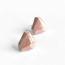 Náušnice - Krystalix náušnice - růžové - 11684823_