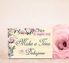 Darčeky pre svadobčanov - Svadobná magnetka - 11686078_