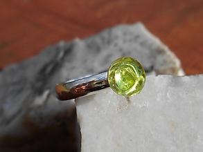 Prstene - green ,,OLIVINA,, olivín-striebro - 11687060_