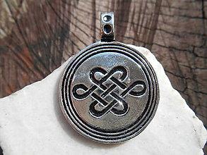 Šperky - nekonečný uzol-celtic amulet - 11687506_