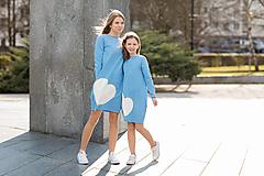 """- Teplákové šaty/tunika """"mama a dcéra"""" Lara - 11686566_"""