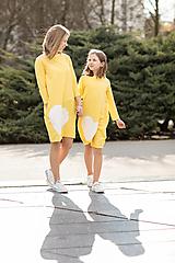 """- Teplákové šaty/tunika """"mama a dcéra"""" Minna 3/4rukáv - 11686629_"""