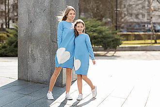 """Šaty - Teplákové šaty/tunika """"mama a dcéra"""" Lara - 11686566_"""