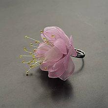 Prstene - Prsteň ružový kvet z recyklovaných PET fliaš - 11687498_