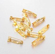 Komponenty - BZ102 Mostík brošňový 2 x 0,5 cm (Zlatá) - 11687408_