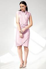 Šaty - ŠATY WRAP (staroružová) - 11687369_