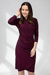 Šaty - ŠATY WRAP (vínová) - 11687393_