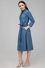 Šaty - KOŠEĽOVÉ ŠATY DAY BY DAY (modré) - 11687405_