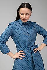 Šaty - KOŠEĽOVÉ ŠATY DAY BY DAY (modré) - 11687406_