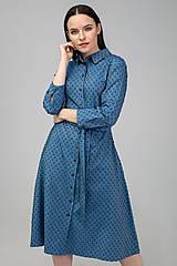 Šaty - KOŠEĽOVÉ ŠATY DAY BY DAY (modré) - 11687407_