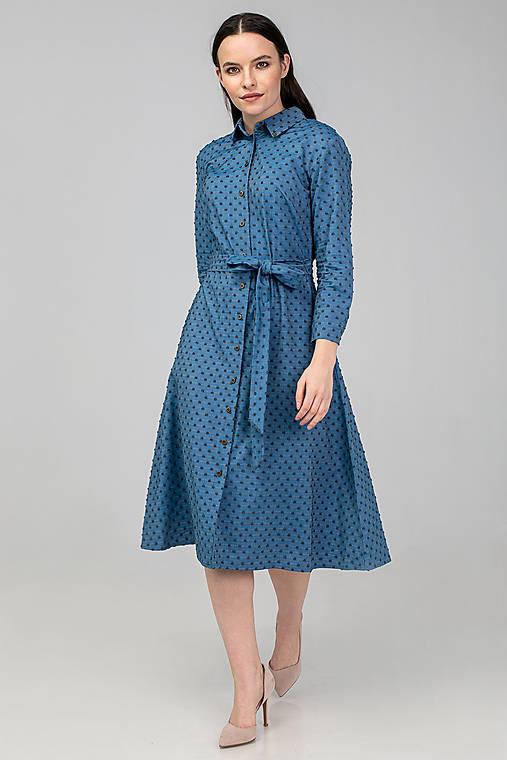 Šaty - KOŠEĽOVÉ ŠATY DAY BY DAY (modré) - 11687403_