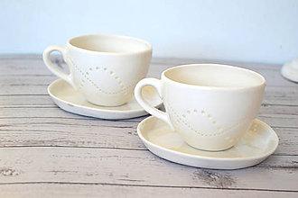 Nádoby - Madeirová porcelánová šálka - 11685738_