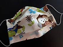 Rúška - Bavlnené rúško rôzne vzory podľa môjho výberu (Detské chlapčenské žirafky) - 11688011_