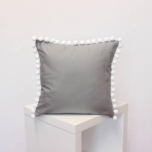 obliečka Sivá s brmbolcami (3veľkosti)