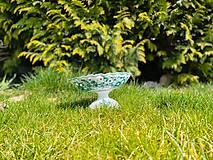 Nádoby - Zelená misa na nohe - 11687813_